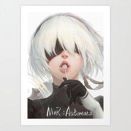 Nier Automata Art Print
