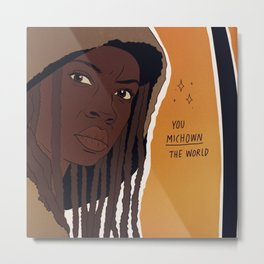 THE WALKING DEAD POSITIVITY POSTS (MICHONNE) Metal Print