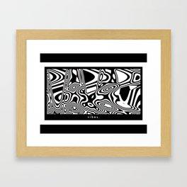 Vibes Block Framed Art Print