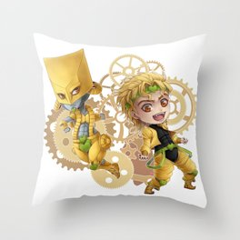JJBA - ZA WARUDO!! chibi Throw Pillow
