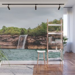 Water Fall at Pictured Rocks, Michigan Wall Mural