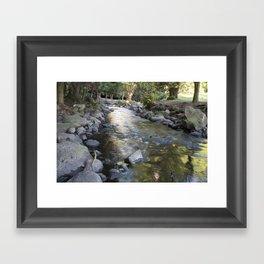 Brook waterway Framed Art Print