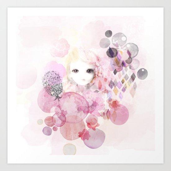 Emma - Bubble girl Art Print