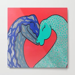 Nessie finds love Metal Print