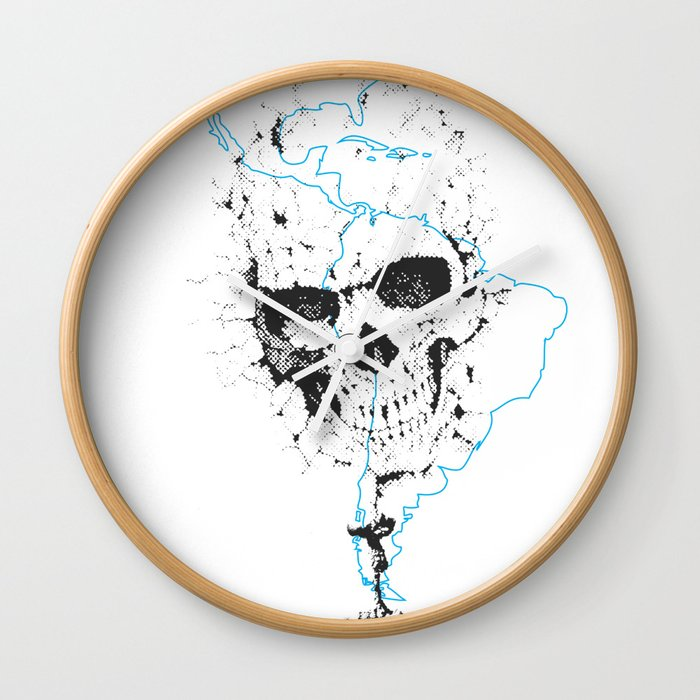 Calavera Proyecto (Skull Project) Wall Clock