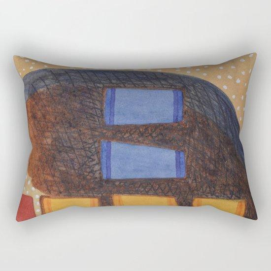 Spilled Coffee Rectangular Pillow