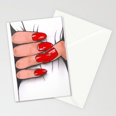 'Hold me tight don't let me go' -Seductive red nails. Ashley Rose Standish Stationery Cards