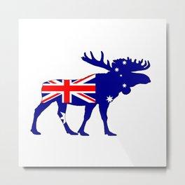 Australian Flag - Moose Metal Print