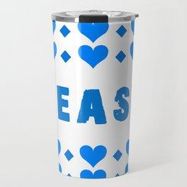 Tease - blue Travel Mug