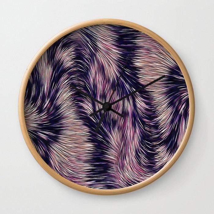 Warm fur texture Wall Clock