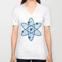 chemistry V-neck T-shirts featuring Chemistry by SandiTyche