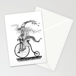 Forest Wizard on a Bike Stationery Cards