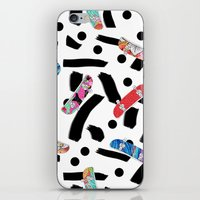 skate iPhone & iPod Skins featuring Skate by Lara Gurney