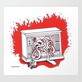 Tribute to the Body Horror of David Cronenberg Art Print