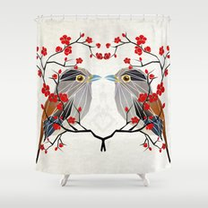 look at me my bird  Shower Curtain