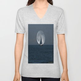 Full Moon Sailing Unisex V-Neck