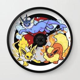 Eeveelution Trio Wall Clock