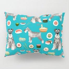 schnauzer sushi dog breed pet pattern dog mom Pillow Sham