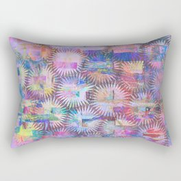 Abstract Anenome Pattern in Purple Pastel Rectangular Pillow