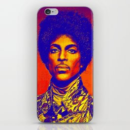 A digitally drawing of Prince (colour) iPhone Skin