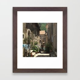 The feast day of Santa Marie delle Grazie in Bagnoli Irpino, Italy  Framed Art Print
