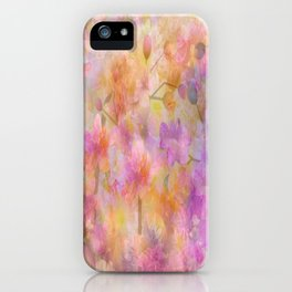 Sophisticated Painterly Floral Abstract iPhone Case