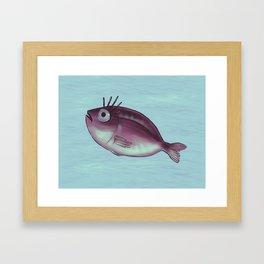 Funny Fish With Fancy Eyelashes Framed Art Print