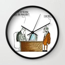 Risk Management Spelling Wall Clock