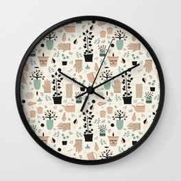 Spring time - Fabric pattern Wall Clock