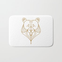 Gold Bear Two Bath Mat