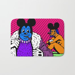 PIMPIN'.  (Mouseketeer).  (On Red). Bath Mat