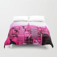 New York City Pink Duvet Cover