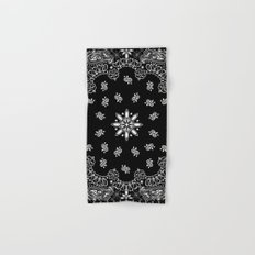 black and white bandana Hand & Bath Towel