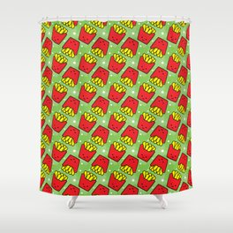 French Fries Fast Food Pattern Shower Curtain