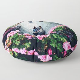 in love with Amster  Floor Pillow