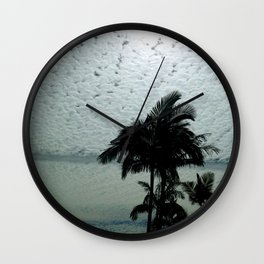 Salmon Palms Wall Clock
