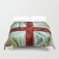 england Duvet Covers featuring England flag. by DesignAstur