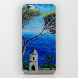 All Blue On Amalfi Coast Italy iPhone Skin