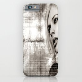 A Beautiful Avril Lavigne Singing wallpaper/poster design iPhone Case