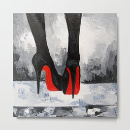 Take off your shoes! Metal Print
