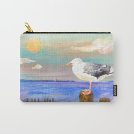 Seaside Seagull Carry-All Pouch