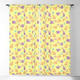 Freely Birds Flying - Fly Away Version 2 - Daffodil Color Blackout Curtain