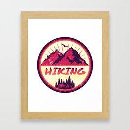 Hiking Nature Camping Framed Art Print