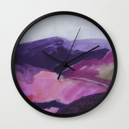 Roses Aren't Red 2 - Contemporary Abstract Landscape Wall Clock
