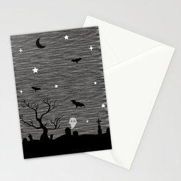 Spoopy Cemetery Print Stationery Cards