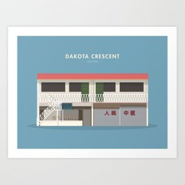 Dakota Crescent, Singapore [Building Singapore] Art Print