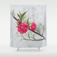 blossom Shower Curtains featuring Blossom by IvanaW