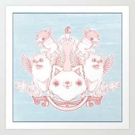 Fur Coat of Arms Art Print