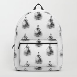 Female Ballet Dancer Vintage Print Backpack