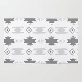 Southwestern Pattern Gray Cream Rug